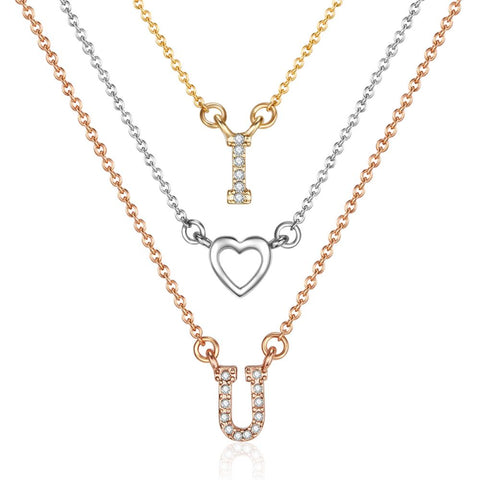 I Love You Trio Necklace