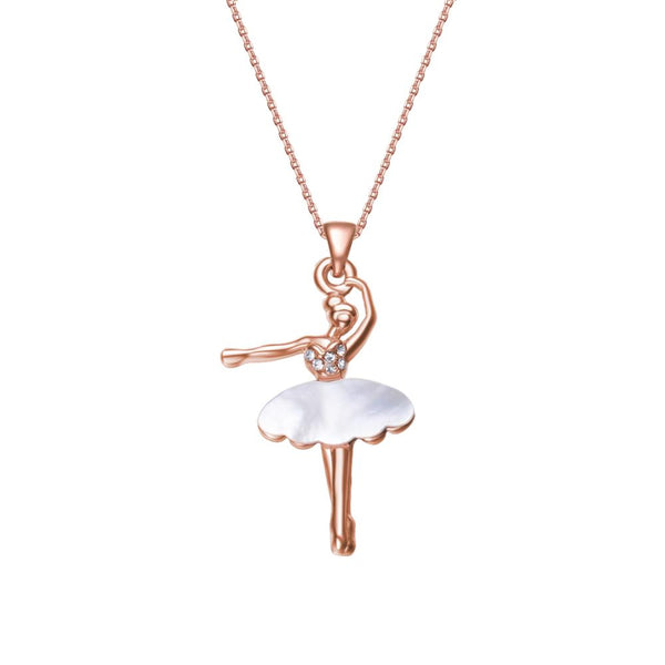 Rose Gold Ballerina Necklace