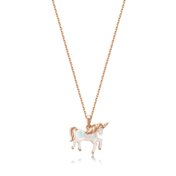 Rose Gold Unicorn Necklace