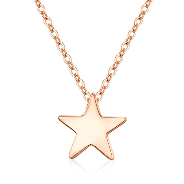 Fine Star Rose Gold Necklace