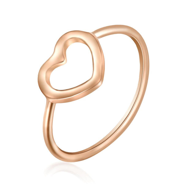 Fine Heart Ring in Rose Gold