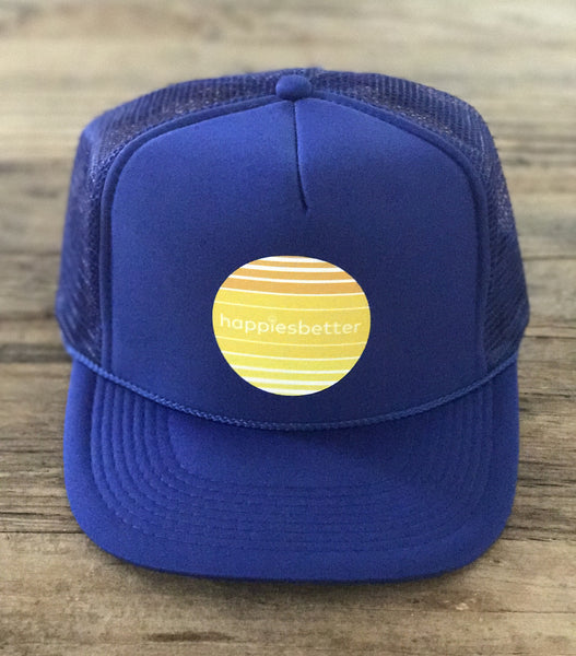 """royal retro sunrise"" mantra hat"
