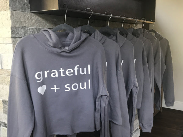 """grateful"" cropped hoodie- SOLD OUT"