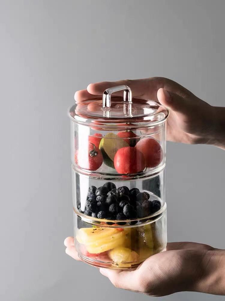Stackable Glass Canister