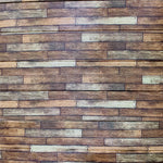 DIY Wood Wall Feature with Adhesive Rustic Dark Wood