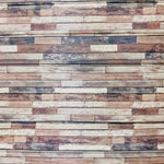 DIY Wood Wall Feature with Adhesive Rustic Light Wood