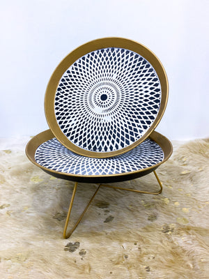 Round Mandala Tray with Stand