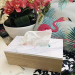 Marble Wood Tissue Box