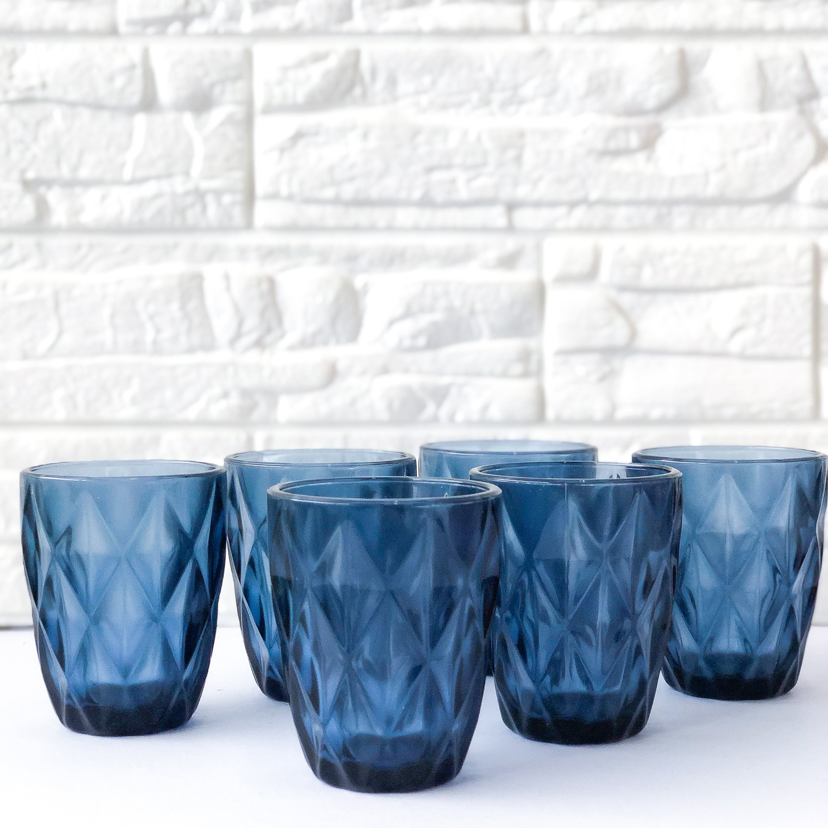 Blue Prism Crystal Cups Set of 6