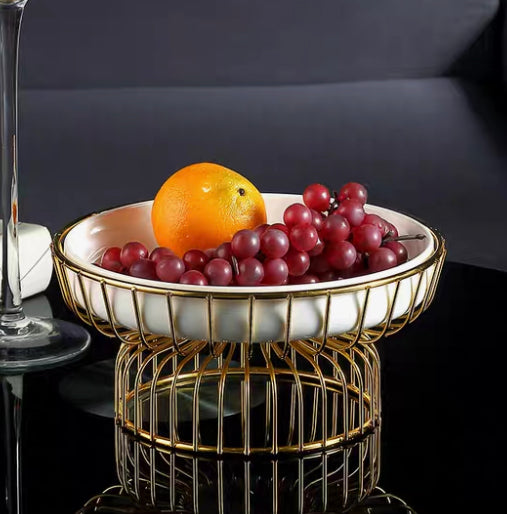 Art Deco Fruit Bowl on Stand