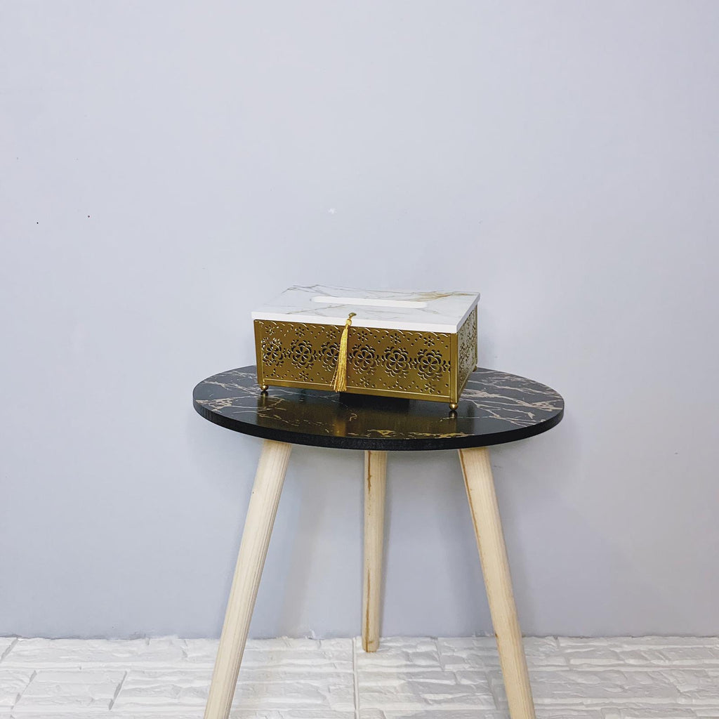 Marble Gold Tissue Box
