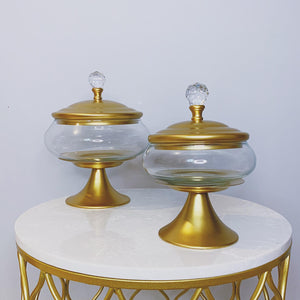 Gold Serving Stand With Lid