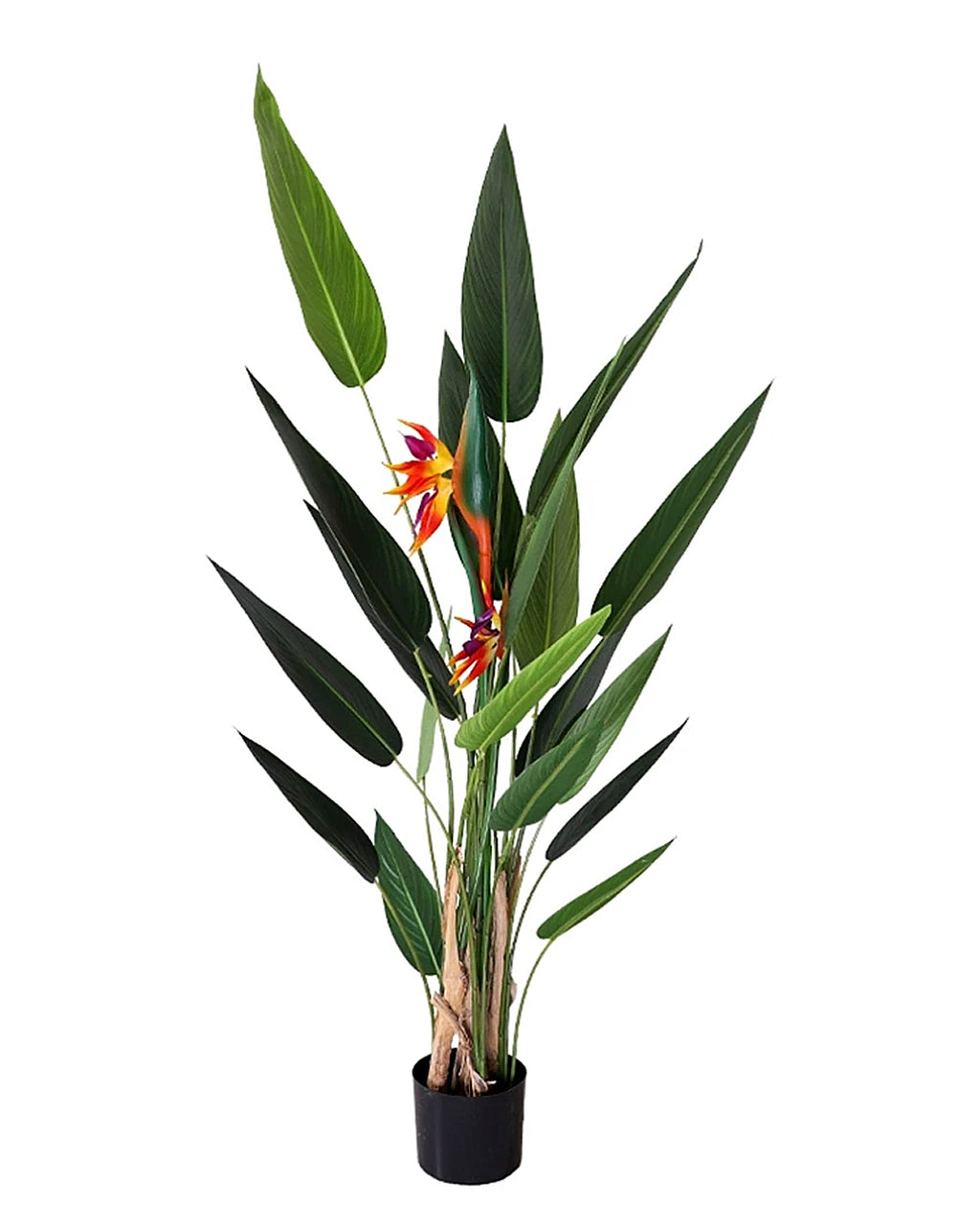 Potted Faux Bird Of Paradise With Bloom Flower Plant 160Cm