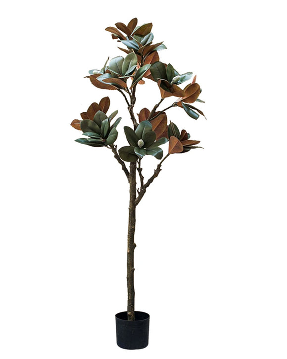 Potted Faux Magnolia Leaf Tree Plant 150cm