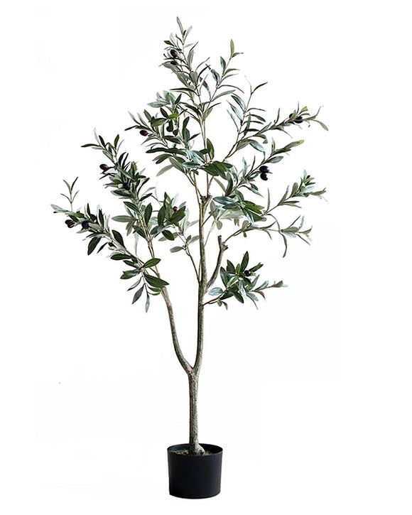 Potted Faux Olive Foliage Tree Plant 120cm