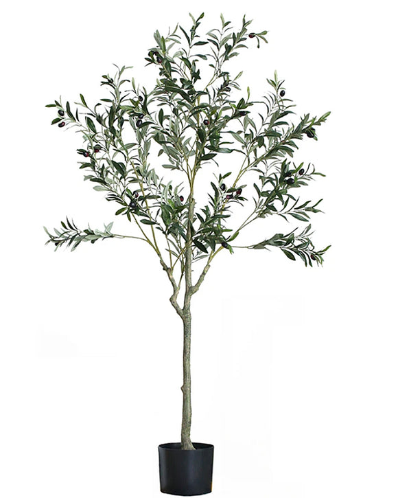 Potted Faux Olive Foliage Tree Plant 150cm