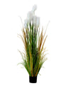 Potted Faux Summer Pampas Grass Plant Tree 120cm