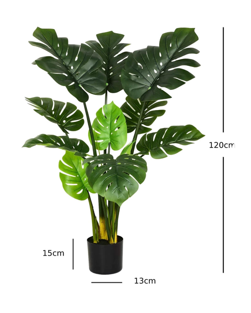 Potted Faux Turtle Monstera Simulation Tree Plant 120cm