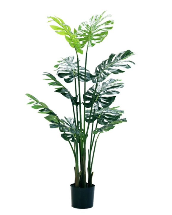 Potted Faux Turtle Monstera Simulation Tree Plant 140cm