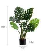 Potted Faux Turtle Monstera Simulation Tree Plant 80cm