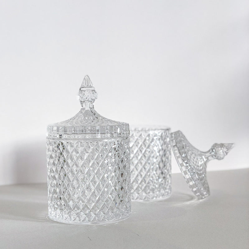 Victorian Crystal Cut Glass Canister