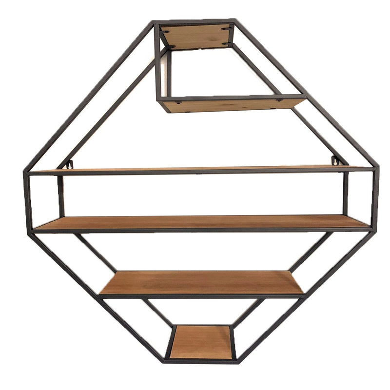 Diamond Wall Display Shelf