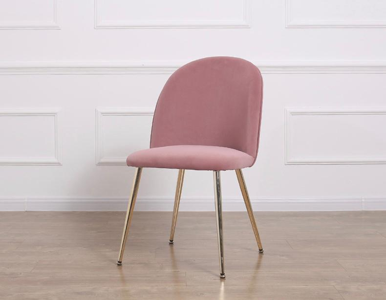 Gold Legs Velvet Dining Chair