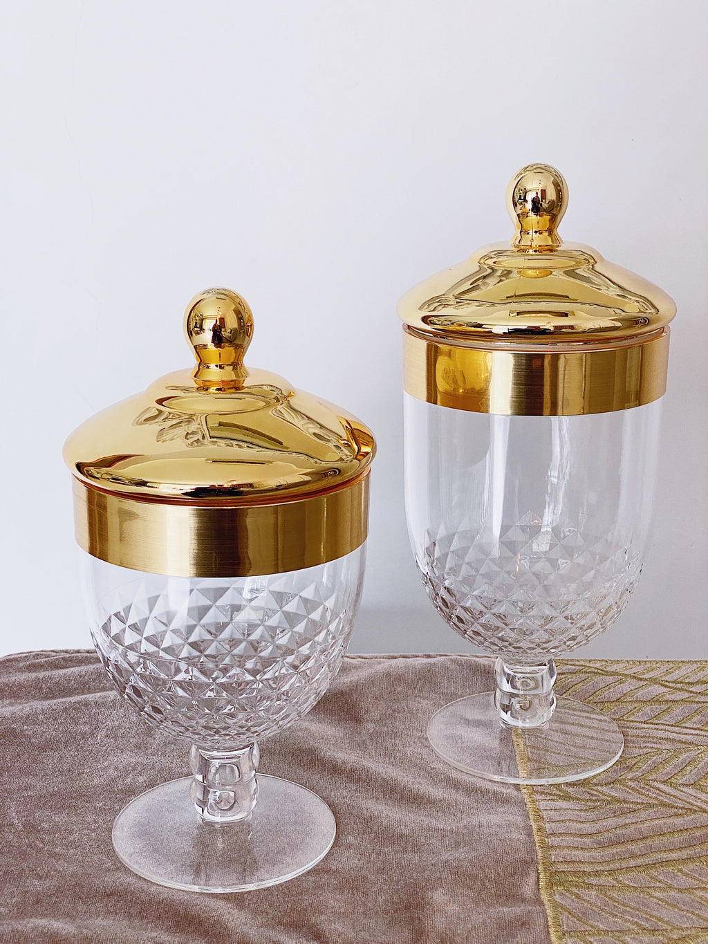 Gold top Acrylic Apothecary Jar