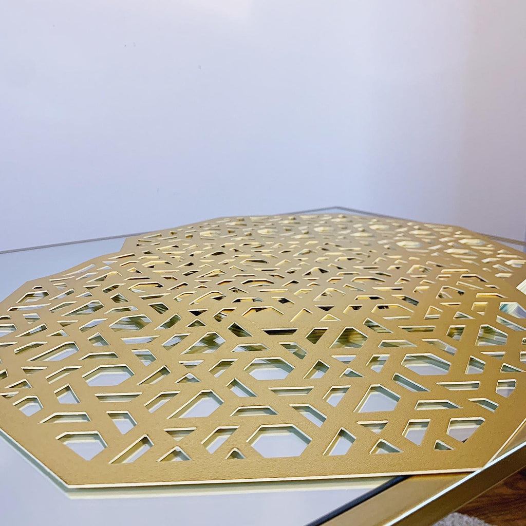 Gold Octagon Placemats
