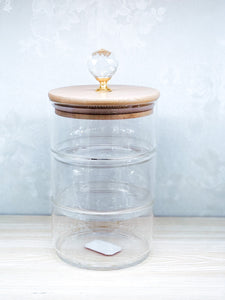 Stackable Canister with Jewel Lid