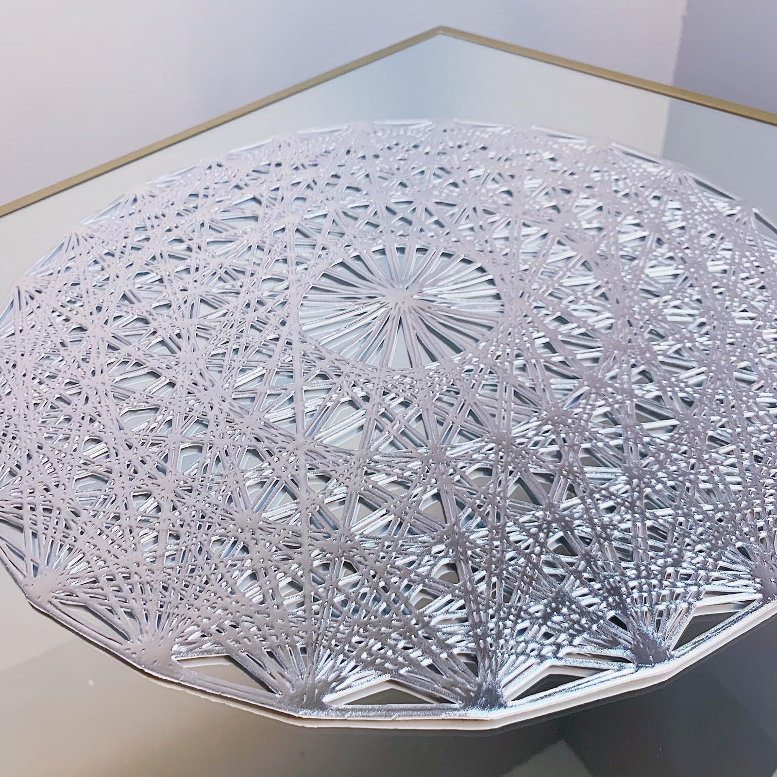 Round Silver Placemats x 6pcs