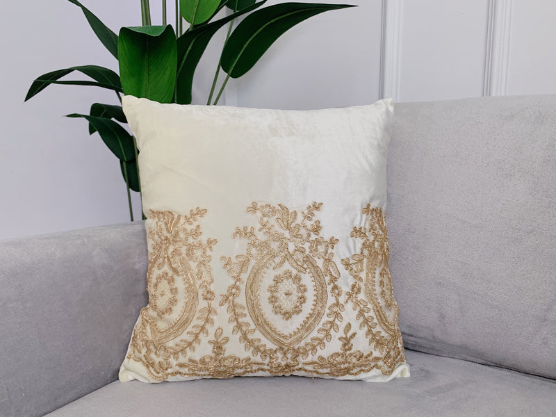 Exclusive Velvet Cushion with Lace
