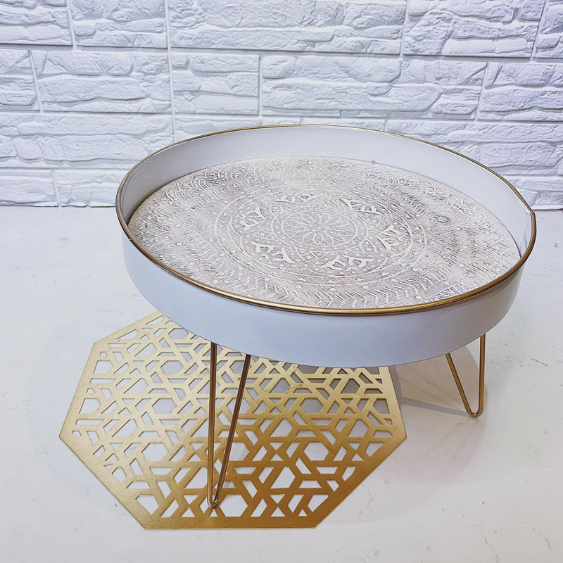 Decorative Serving Tray on Stand