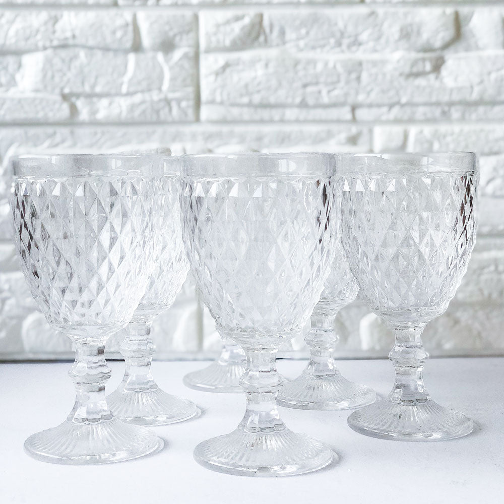 Crystal Cut Glass Set of 6