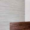 DIY Wood Wall Feature with Adhesive Dark Walnut