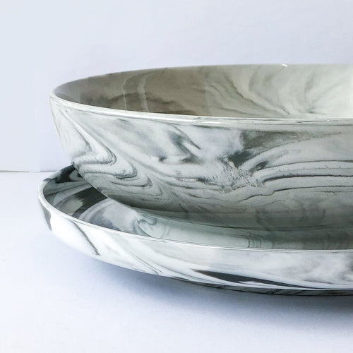 Marble Large Serving Bowl