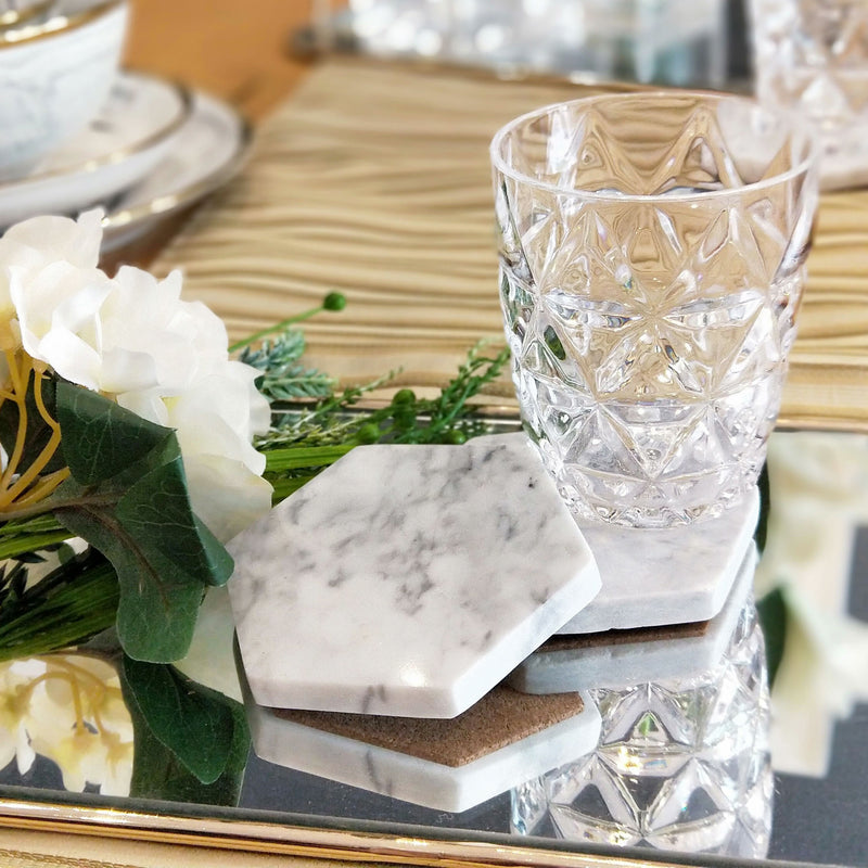 Marble White Coasters