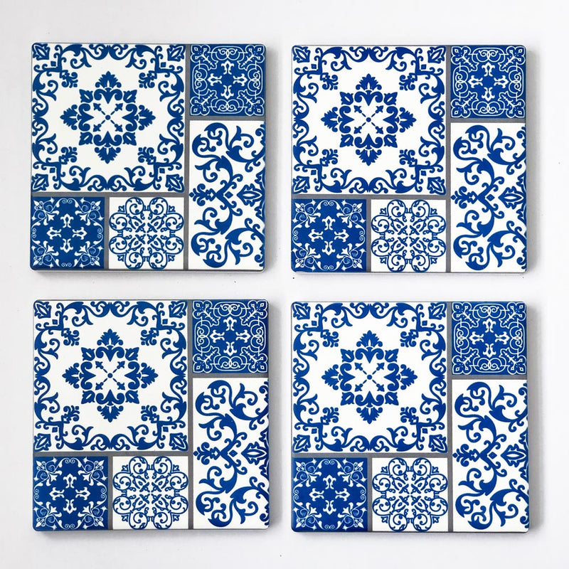 Set of 4 Oriental Ceramic Coasters