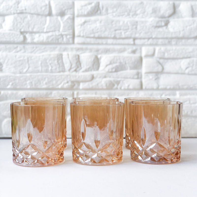 Gold Crystal Cups Set of 6