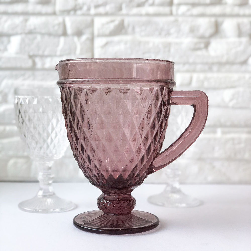 Purple Prism Crystal Jug