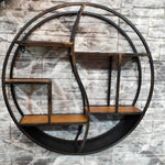 Round Wall Shelving Black