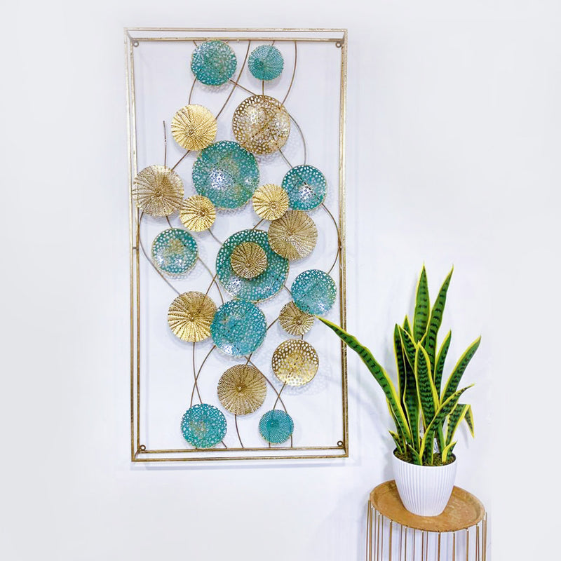 Nordic Wall Hanging Decor Turquoise/Gold
