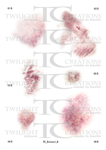Twilight Creations Temporary Wound Tattoo - Bruises 1 B