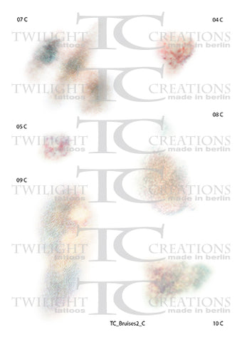 Twilight Creations Temporary Wound Tattoo - Bruises 2 C