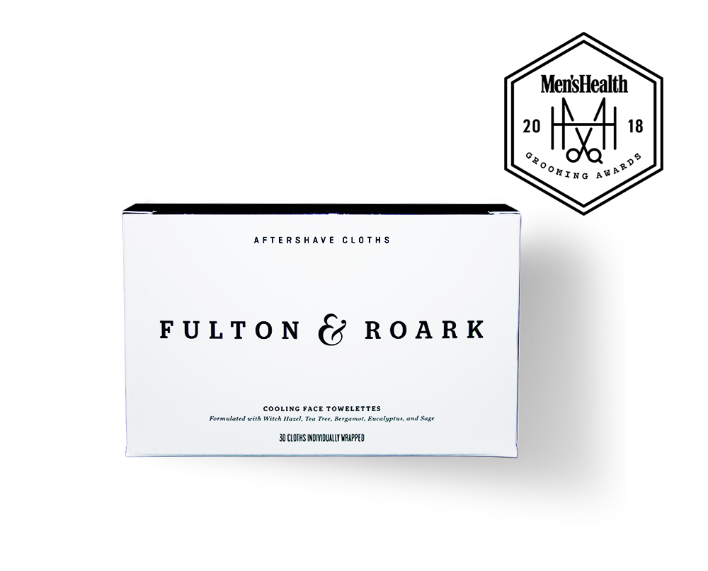 Fulton & Roark Aftershave Cloth Box with Men's Health Grooming Award Badge