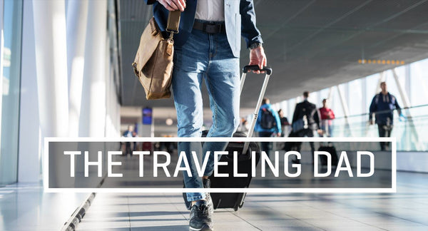 The Traveling Dad : Image of man with suitcase