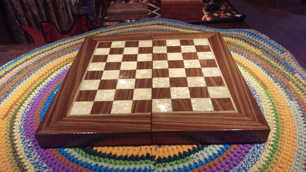 Classic Backgammon & chess Game Box