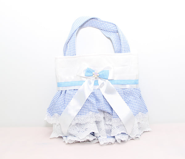 Eid Handbag -- White & Baby Blue