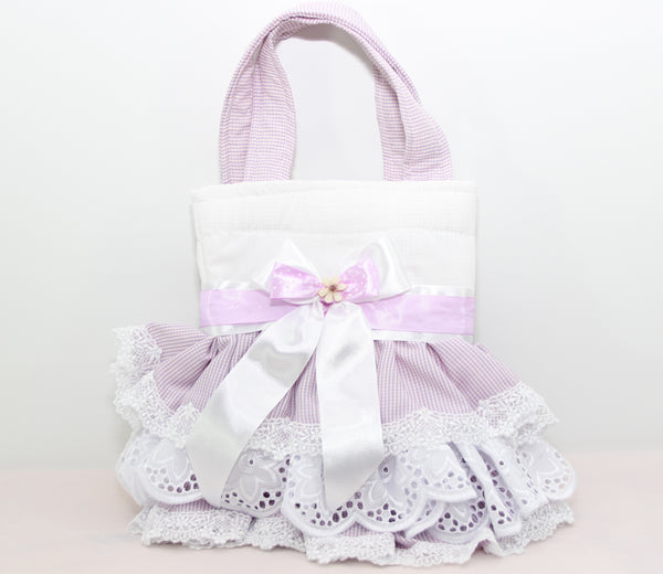 Eid Handbag -- White & Purple