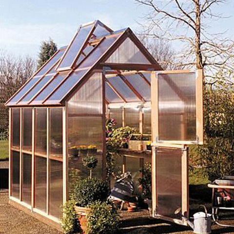 Sunshine Gardenhouse Mt. Hood Greenhouse 6X8 ft - GreenhouseTalk - 1